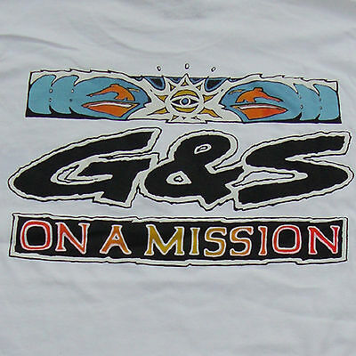 G&S / Gordon & Smith Vintage Surf Tee Shirt - Original 80s Surfing Retro - M-MIS