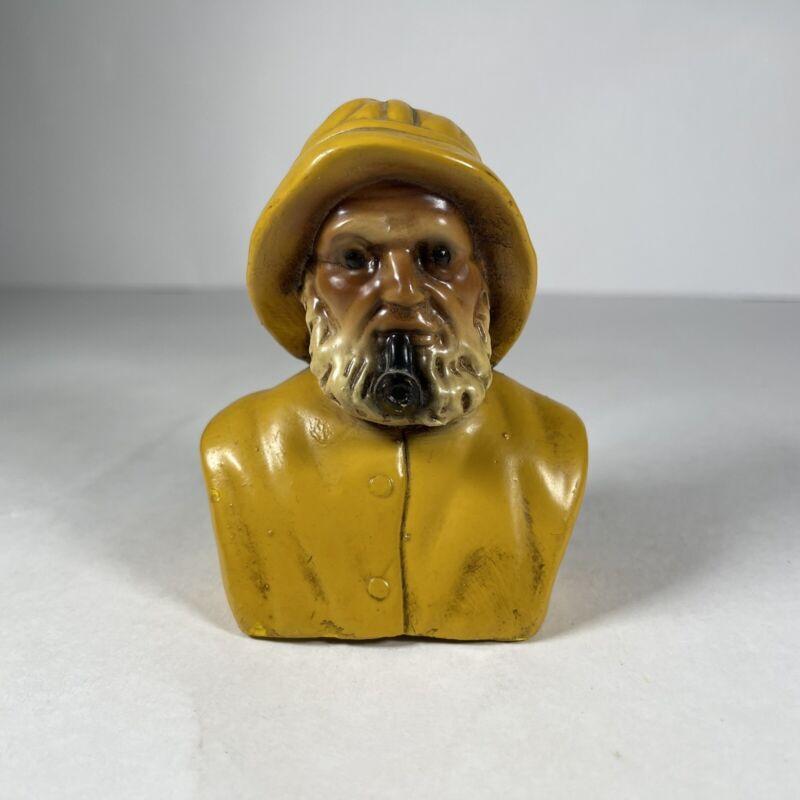 Vintage Orzeck Terrestone Yellow Fisherman Bust Figure