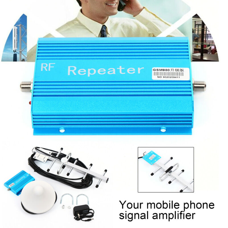 Mobile Signal Repeater + Indoor Antenna + Adapter(US plug)For Indoor Use AC110V