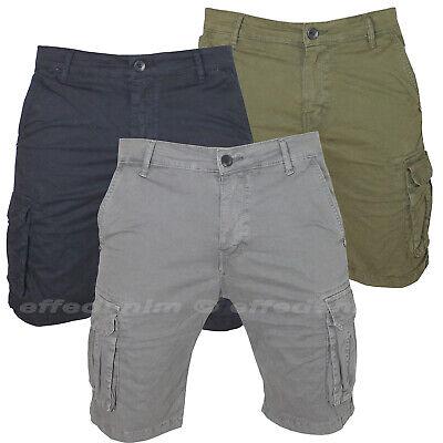Bermuda Uomo Cargo Pantaloni corti con Tasche Laterali pantaloncini Multitasche