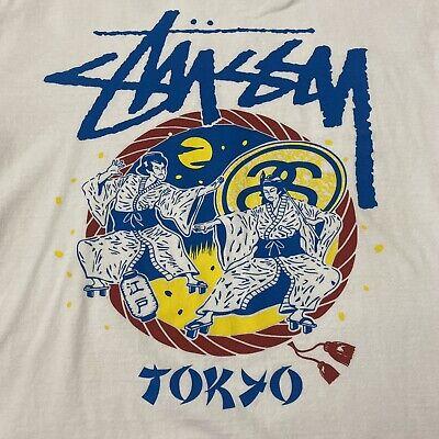 Stussy Tokyo Japan Chapter White T-Shirt Mens Medium Crew Neck