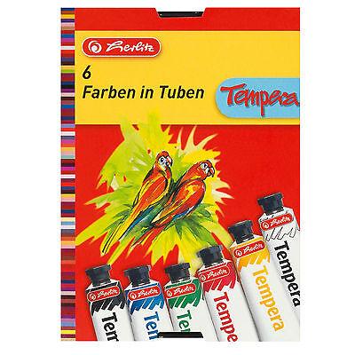 Tempera Paint Tube (Herlitz Temperafarbe 6 Tuben Temperafarben Malfarben tempera paint 6 tubes)
