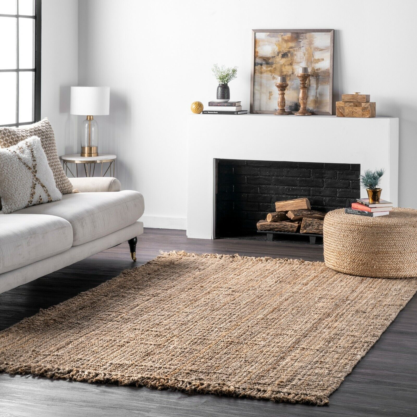 Picture of: Windward Natural Sheepskin Plush Area Rug Grey Color Approx 73 X43 9 10 For Sale Online Ebay