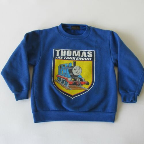Vintage 90s Thomas The Train Kids Fleece Sweatshirt by Changes Made in USA 5T