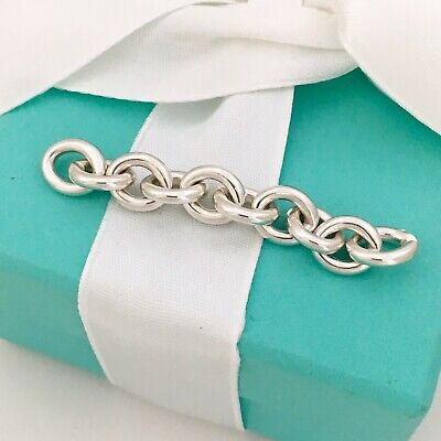 Return to Tiffany Extra Chain Links Repair Lengthening Oval Tag Choker -