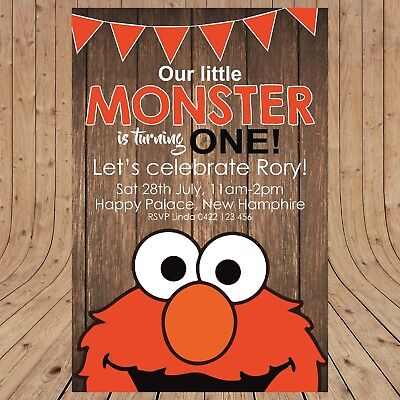 Personalised ELMO Sesame Street Party Invitation Invites DIGITAL - YOU PRINT - - Sesame Street Party Invitations