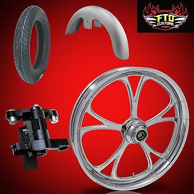 "Harley 30 inch Front End Big Wheel kit, Wheel, Tire, Neck, Fender, "" Retaliate"""