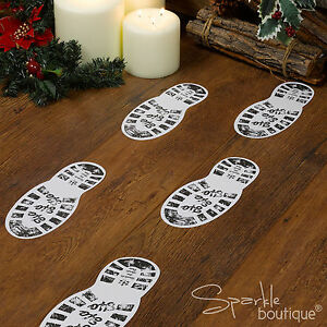 FATHER CHRISTMAS / SANTA BOOT PRINTS - Xmas Eve Decoration- CRAFT RANGE IN SHOP