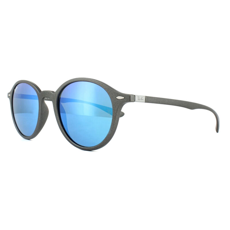 f3f1072a48 Ray-Ban Sunglasses Round Liteforce 4237 620617 Grey Blue Mirror ...