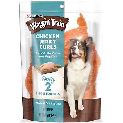 Purina Waggin' Train Chicken Jerky Curls Dog Treats, (6) 3 oz. Pouches