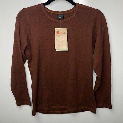 Effort's Hempwear Crewneck Sweater Women's Size S M L Brown New Organic