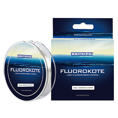 (KastKing FluoroKote Fishing Line - Fluorocarbon Coated Line - 300Yds/274M)