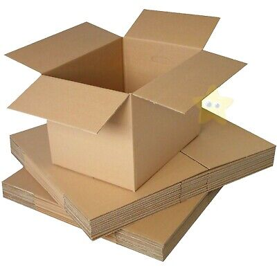 5 LARGE REMOVAL STORAGE CARDBOARD BOXES 22X14X14