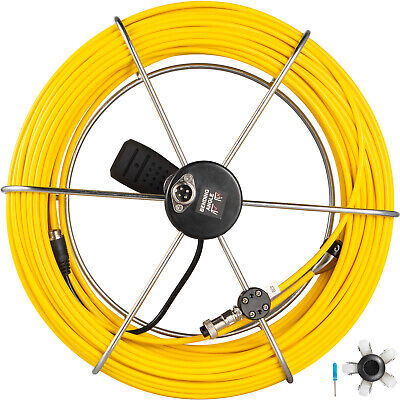40m Pipe Inspection Cable Camera Drain Sewer Pipeline Cord Wire Replace Whandle