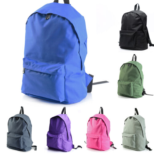Mens Boys Girls Retro Backpack Rucksack School College Travel Laptop Work Bag