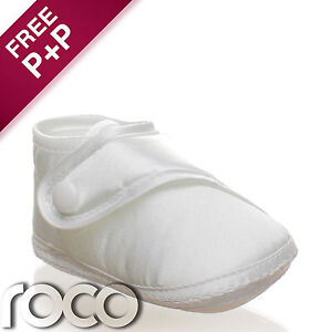 Toddler-Boys-Girls-White-Shoes-Christening-Wedding-Party-Unisex-Baby-Pram-Shoes