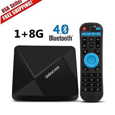 NEW DOLAMEE D5 Smart TV BOX Android 5.1 4K HD 8GB Quad Core WiFi Bluetooth MX, used for sale  Chino