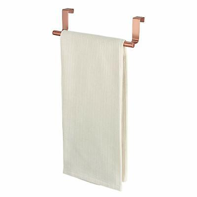 iDesign Towel Rail for Over the Door, Small Copper Hand Towel Holder Made of