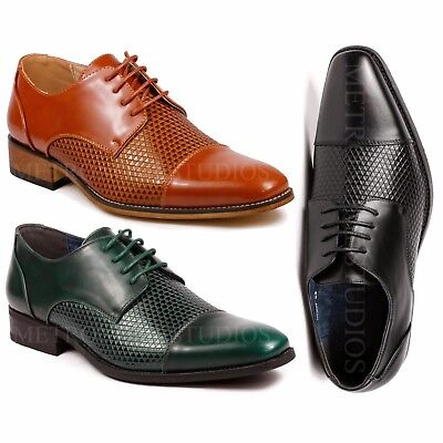 Cap Toe Lace Up Cap (Men's Cap Toe Lace Up Oxford Classic Dress Shoes )
