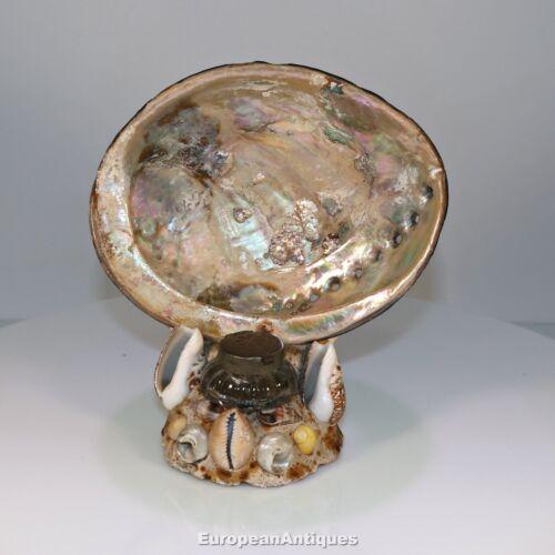 French Inkwell Sea Shell Art Shellwork Maritime Sailor Souvenir Handmade