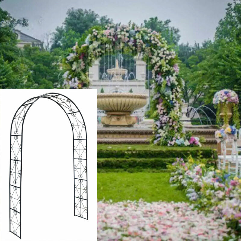 Metal Arch Party Prom Decoration Wedding Archway Frame for Garden Patio 7.2 Ft