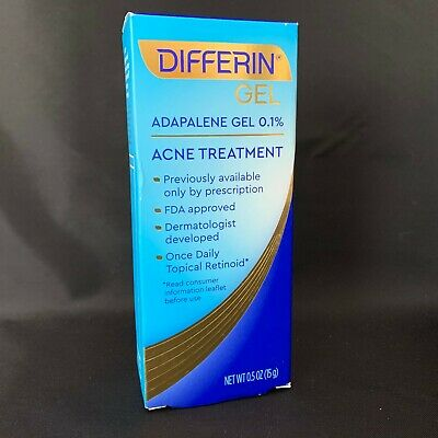 Differin Adapalene Gel 0.1% Retinoid Acne Treatment 15 G EXP:05/2021. NEW, #S020