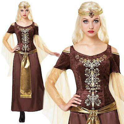 Damen Mittelalter Damen Tudor Renaissance Maid Marion Kostüm Kostüm Buch - Alte Kostüm Buch