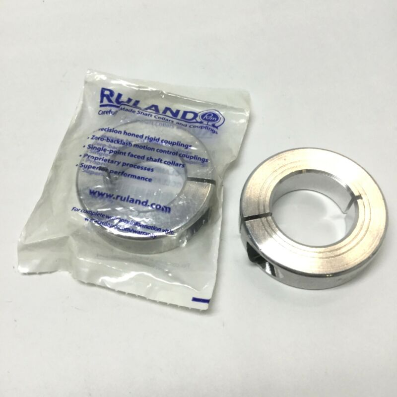 Lot of 2 Ruland MCL-30-A Shaft Collars, One-Piece Clamp, Aluminum, 30mm Bore