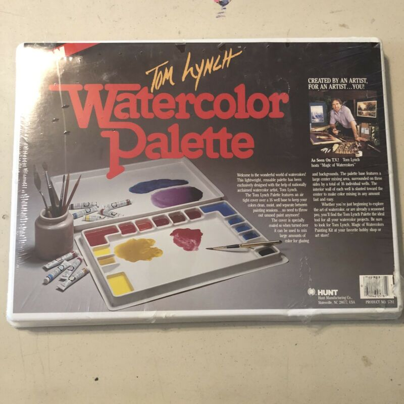 Tom Lynch Watercolor Palette 16 Wells Hunt Mfg 5781 Painting NEW
