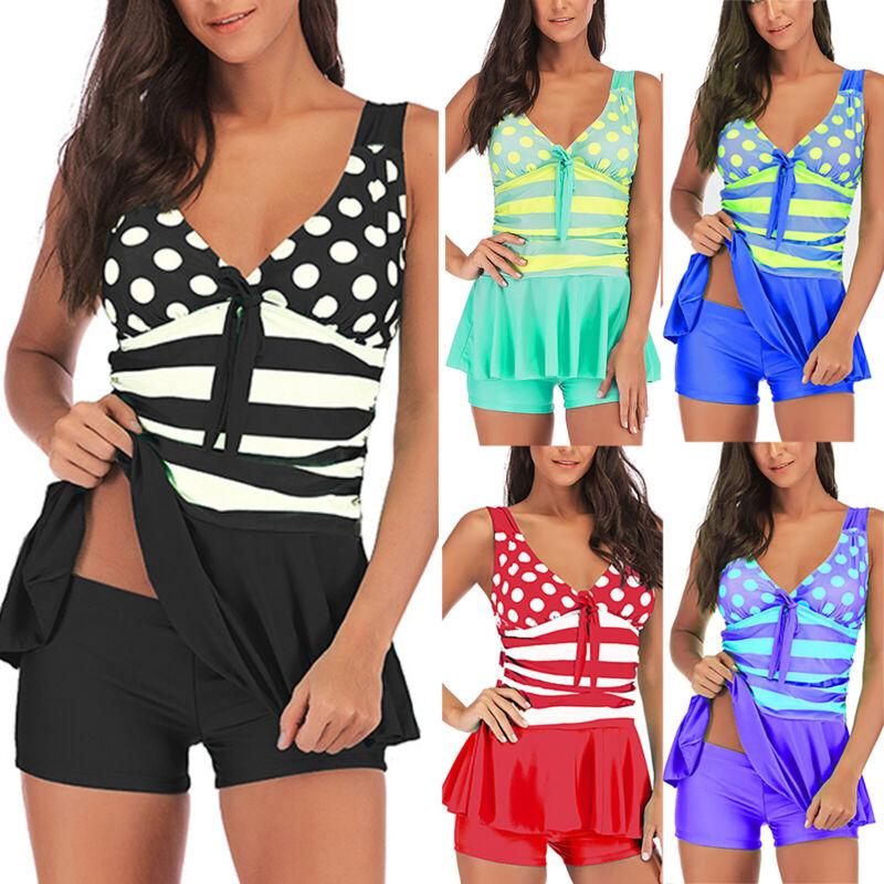 Women Bikini Set Tankini Swimwear Swimdress Ladies Bathing Suit Beach Swimsuit Clothing, Shoes & Accessories
