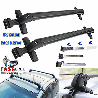 Universal Car Roof Rack Cross Bar Cargo Luggage Carrier w/Anti-theft Lock System