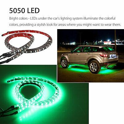 RGB 48 LED Strip Under Car Tube Underglow Underbody System 4Pcs Neon Lights Kit 4