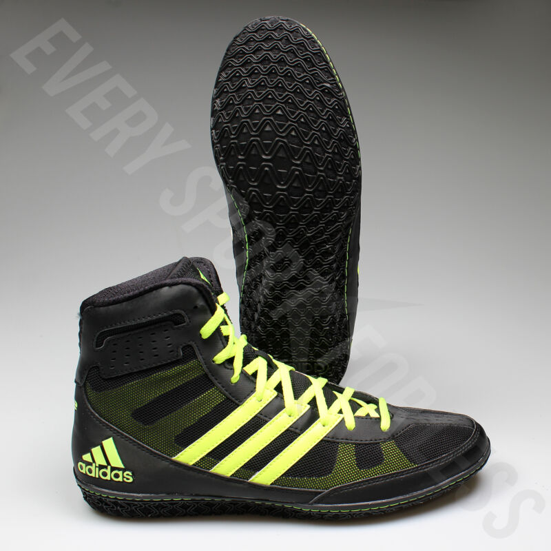Adidas Mat Wizard 3 Wrestling Shoes S77969 - Black Yellow (NEW) Lists   ab496cb76