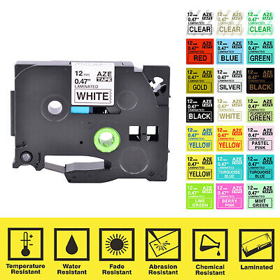 Compatible With Brother P-touch 12mm Tze Tz White Label Tape 0.47