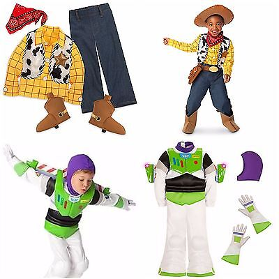 Disney Store Toy Story Buzz Lightyear Woody Boy Dress Up Costume Pixar Halloween