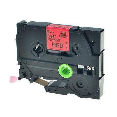 Black On Red Label Tape For Brother Tze-421 Tz Tze421 9mm Pt-p700 Pt-p750w 1800