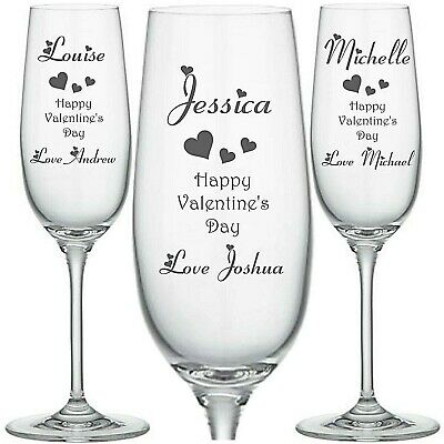 Personalised Engraved Champagne flute glass disney pooh eeyore tigger tinkerbell