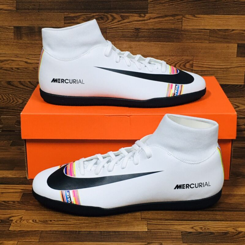 Nike Mercurial Superfly 6 Club IC Men's Indoor Soccer Football Shoes White
