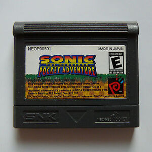 New Neo Geo Pocket Color Sonic the Hedgehog Pocket Adventure Game Region Free