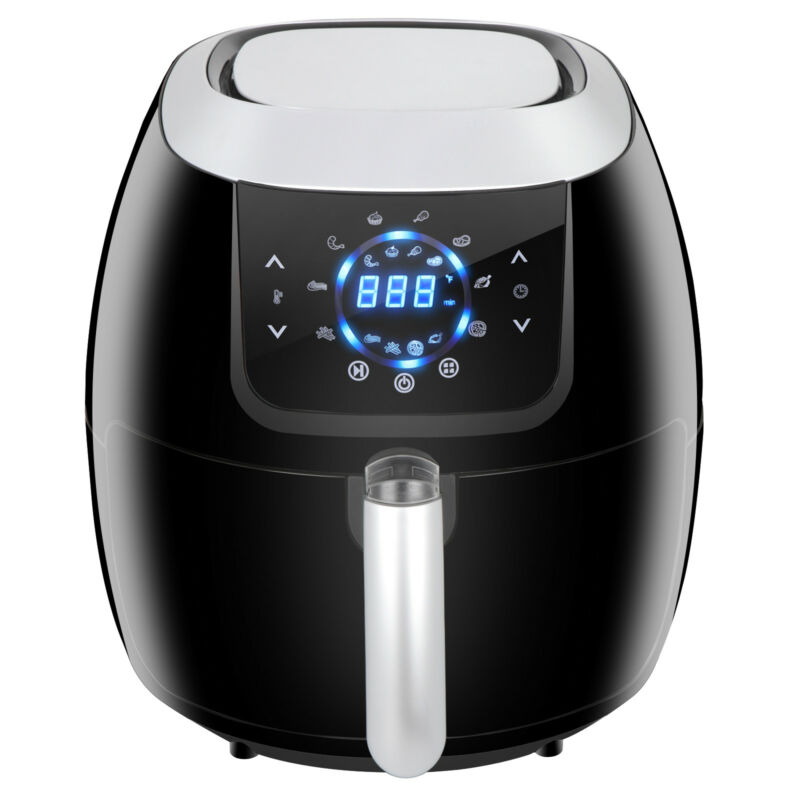 Kitchen Appliances Air Fryer Digital Touch Screen 1800w Black Customized Setting