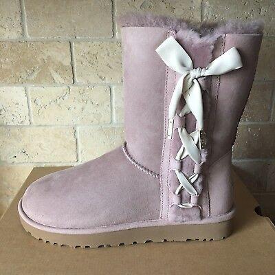 UGG Pala Corset Ribbon Bow Dusk Suede Winter Classic Short Boots Size 8 (Decoration Womens Winter Shorts)