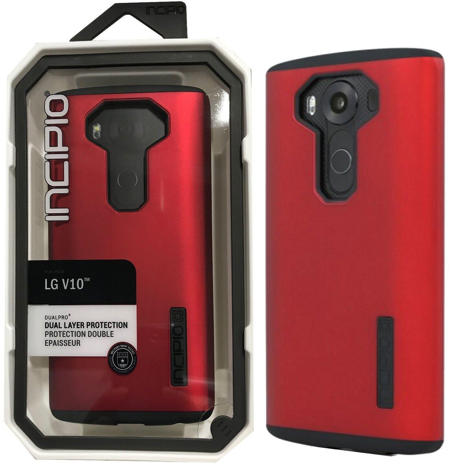 New in Box Incipio LG V10 Iridescent Red / Black DualPro