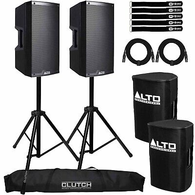 "Alto Truesonic TS312 12"" 2000W 2-Way Powered Active DJ PA Loud Speaker w Stands"