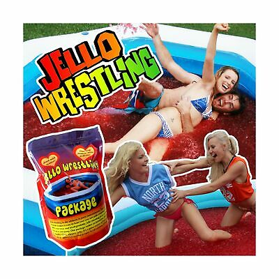 Bulk RED Jello Wrestling Supply Jelly Package. Crystal Mix Makes 100Gal (380L...
