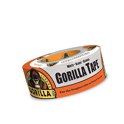 """1 Pack, Pack of 1 Gorilla Tape White, White Duct 1.88/"""" x 30 yd"""