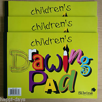 3x NEW - CHILDREN'S DRAWING PAD - Sketch Art Artist Paper Bo