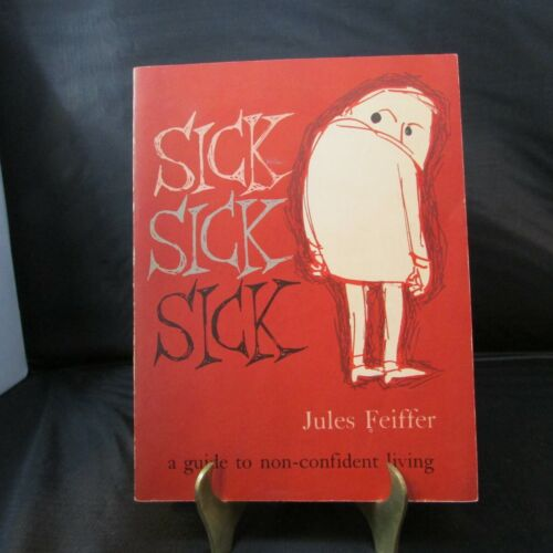 Jules Feiffer signed to Donna SICK SICK SICK paperback book First Edition Comic