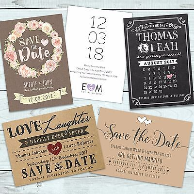 Personalised Wedding Save the Date Cards with Envelopes (Wedding Save The Dates)