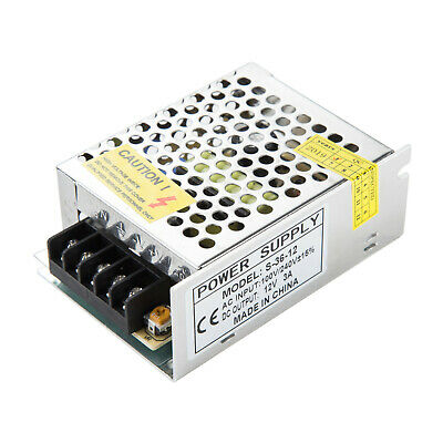 Ac 110-220v To Dc 12v 3a 36w Volt Transformer Switch Power Supply Converter Us