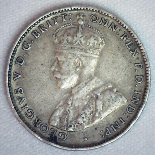 1936 Australia Silver Shilling Coin Very Fine George V Circulated